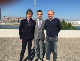 Il Presidente A.P. Rossi e il Segr. Generale Ferrandino nella sede del Gruppo Ormeggiatori